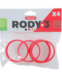 ZOLUX 4 Ringe für Rody-Röhre rot