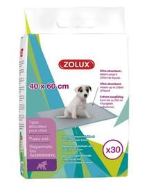 ZOLUX Teppich Bildung Welpen appentissage der Sauberkeit – L 60 x P 40 cm 30 St