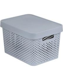 CURVER INFINITY Box mit Punktmuster, 17 L hellgrau