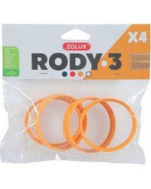 ZOLUX 4 Ringe für Rody-Röhre gelb