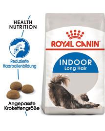 ROYAL CANIN INDOOR Longhair Trockenfutter für Wohnungskatzen mit langem Fell 10 kg