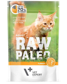 VETEXPERT Katzen-Nassfutter Raw Paleo Adult Truthahn 100g