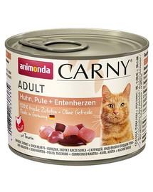 ANIMONDA Carny Adult HUHN, PUTE + ENTENHERZEN 200 g