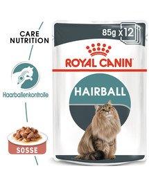 ROYAL CANIN Hairball Care Katzenfutter nass gegen Haarballen 12x85g