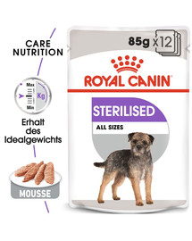 ROYAL CANIN STERILISED Nassfutter für kastrierte Hunde Mousse 12 x 85 g