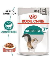 ROYAL CANIN INSTINCTIVE 7+ Nassfutter in Soße für ältere Katzen 12 x 85 g