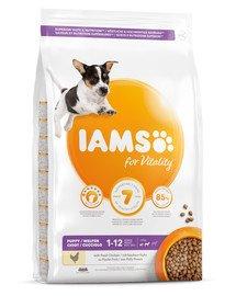 IAMS for Vitality für Welpen kleiner und mittelgroßer Rassen mit frischem Huhn 12 kg