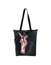 FERA Klassische Einkaufstasche mit einem Aufdruck eines braunen Pferds