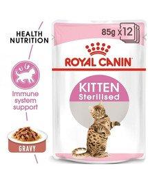 ROYAL CANIN KITTEN Sterilised Kittenfutter für kastrierte Kätzchen 12 x 85 g