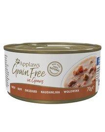 APPLAWS Grainfree in Gravy Rindfleisch 70g