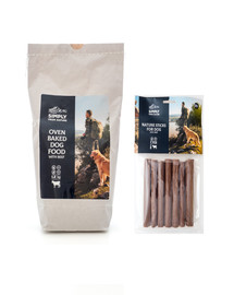 SIMPLY FROM NATURE Oven Baked Dog Food with beef Oven Baked Dog Food mit Rind 1,2 kg  + Nature Sticks mit Rind 7 St.