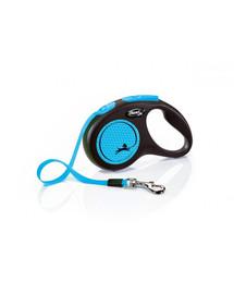 FLEXI New Neon S Gurtleine 5 m Blau