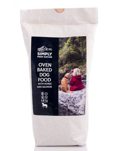 SIMPLY FROM NATURE Ofengebackenes Hundefutter Pferde- & Lachs 1,2 kg