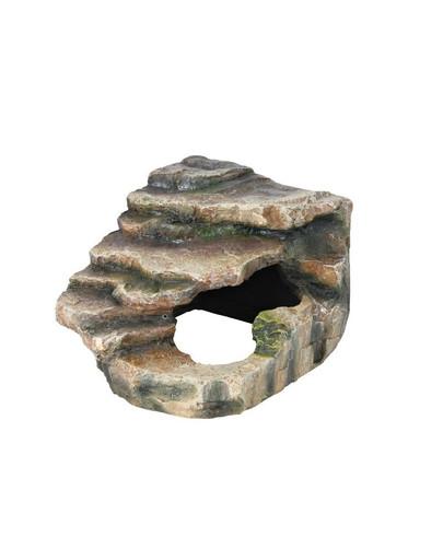 TRIXIE Eck-Fels mit Höhle und Plattform für Terrarium 19x17x17 cm