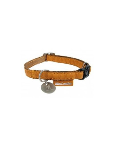ZOLUX Halskette Mac Leather gelb Halsumfang 22/32 cm x Breite. 10 mm für Hunde 8717