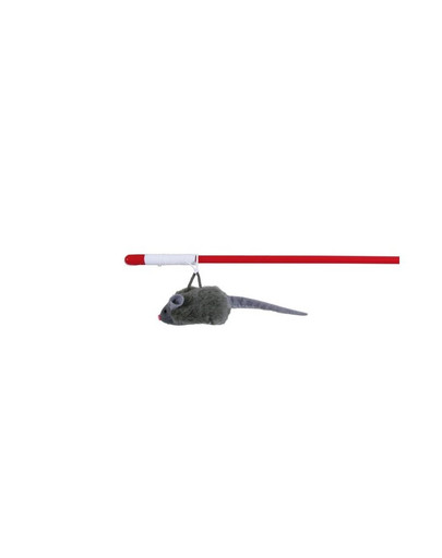 TRIXIE Spielangel mit Squeaky-Maus 47 cm