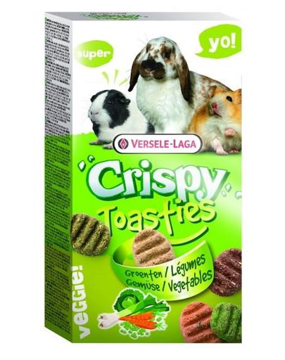 VERSELE-LAGA Crispy Toasties 150 g Knusprige Gemüsekekse für Kleinsäuger