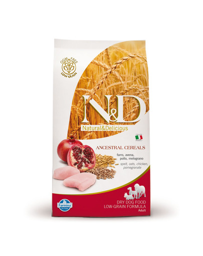 FARMINA N&D Low Ancestral Grain Adult Huhn & Granatapfel 2.5 kg