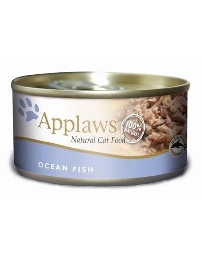 Applaws Katzen Nassfutter in der Dose mit Seefisch 70g 33998