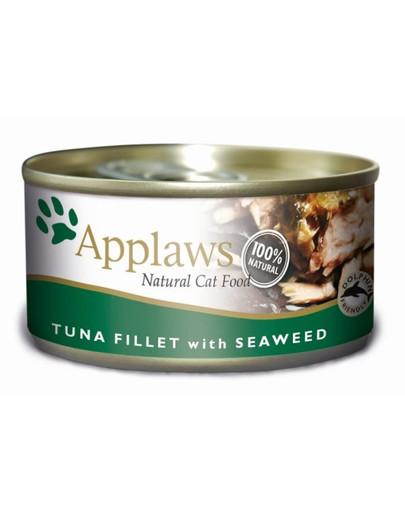 Applaws Katzen Nassfutter mit Thunfischfilets & Meeresalgen 70 g
