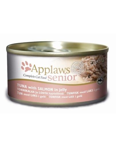 APPLAWS Senior Thunfisch und Lachs im Gelee 70 g