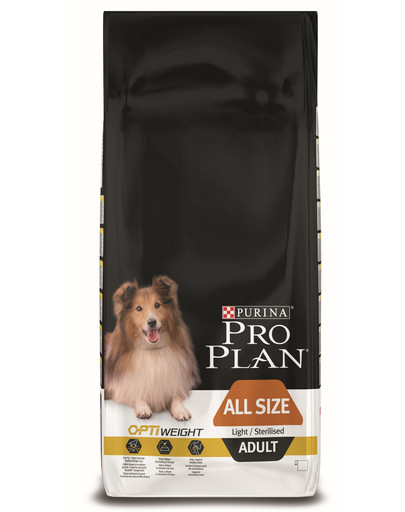 PURINA PRO PLAN All Sizes Adult Light/Sterilised mit OPTIWEIGHT Reich an Huhn 14kg