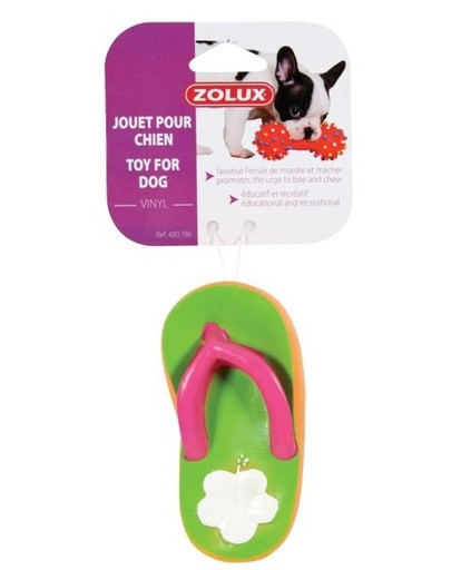 ZOLUX Hundespielzeug Tong aus Vinyl für Hunde 6 x 2 x 12 cm