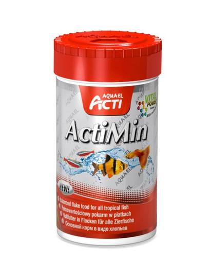 AQUAEL Premium Mischung aus Flockenfutter Acti actimin 250 ml