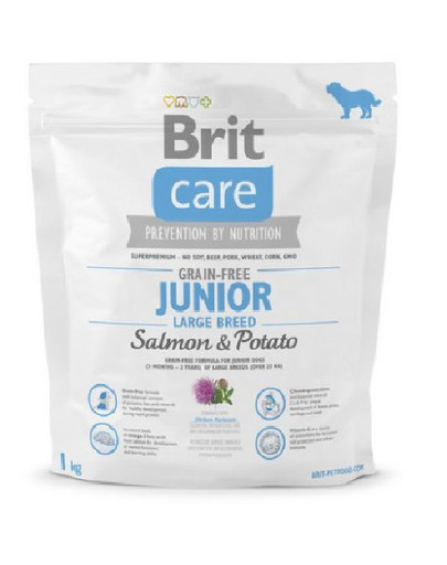 BRIT Care Dog Grain-Free Junior Large Breed Salmon & Potato 1kg