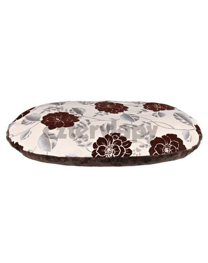 """TRIXIE Hundekissen """"Daphne"""" 120x80 cm, beige/braun, florales Muster"""