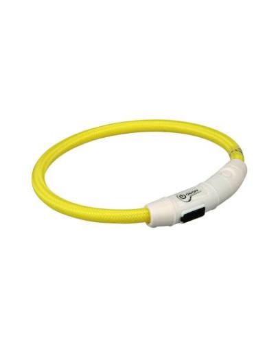 TRIXIE Flash Leuchtring USB, L–XL: 65 cm/O 7 mm