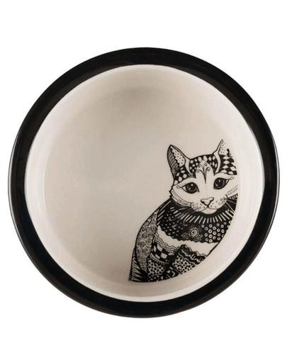 TRIXIE Keramiknapf mit Katzenmotiv 0.3 l 42538