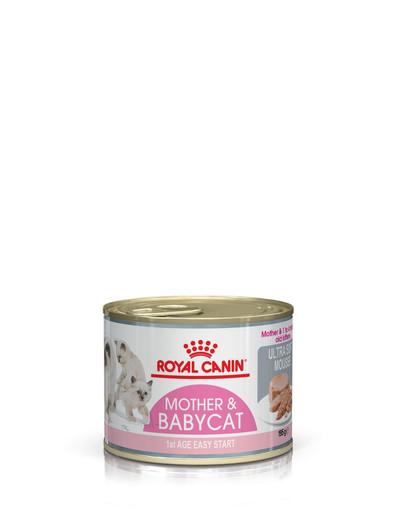 ROYAL CANIN MOTHER & BABYCAT Mousse für tragende Katzen und Kitten 195 g