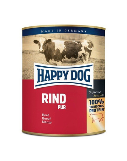 HAPPY DOG Rind Pur 800 g