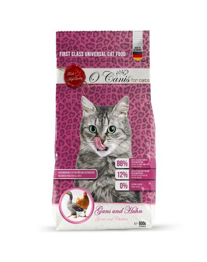 O'CANIS Trockenfutter für Katzen: Gans und Huhn 600 g 49941