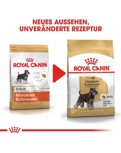 ROYAL CANIN Miniature Schnauzer Adult Hundefutter trocken für Zwergschnauzer 7.5 kg