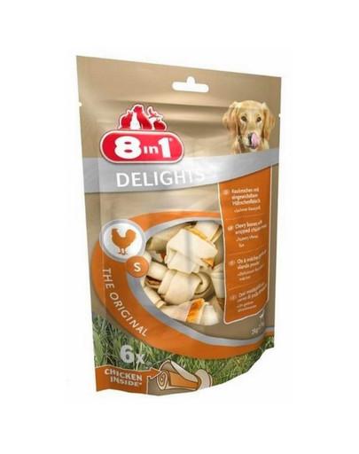 8in1 Snack für Hunde, Delights, Kauknochen S, 6 Stück