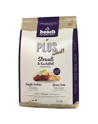 BOSCH PLUS Adult Strauß & Kartoffel 2,5 kg
