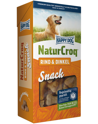 HAPPY DOG NaturSnack Rind & Dinkel