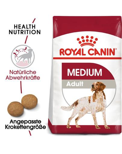 ROYAL CANIN MEDIUM Adult Trockenfutter für mittelgroße Hunde 4 kg