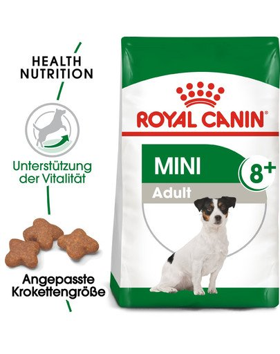 ROYAL CANIN MINI Adult 8+ Trockenfutter für ältere kleine Hunde 800 g