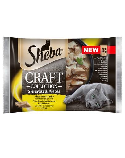 SHEBA Craft Collection Geflügelgeschmack - feuchtes Katzenfutter in Sauce (mit Geflügel, Huhn, Pute, Ente) 52x85g 49685