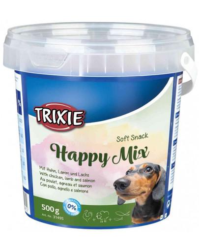 TRIXIE Soft Snack Happy Mix mit Huhn, Lamm und Lachs 500 g