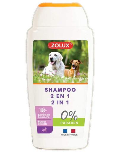 ZOLUX Shampoo mit dem Pflanzenextrakt von Bourrache 2in1 250ml 47584