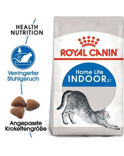 ROYAL CANIN INDOOR 27 Trockenfutter für Wohnungskatzen 10 kg
