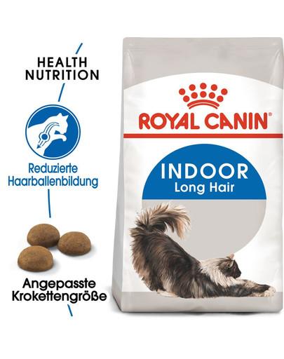 ROYAL CANIN INDOOR Longhair Trockenfutter für Wohnungskatzen mit langem Fell 4 kg