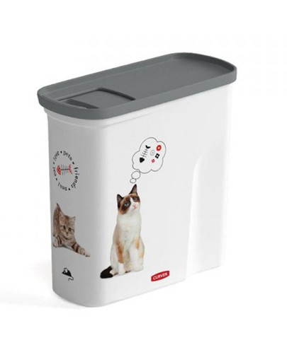 8IN1 CURVER Pet-Futter-Container Futtercontainer Katze 2l 51749