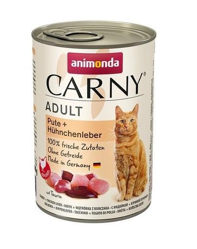 ANIMONDA Carny Adult Pute und Hühnchenleber 400 g 53401