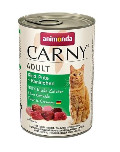 ANIMONDA Carny adult Rind, Pute + Kaninchen 400 g