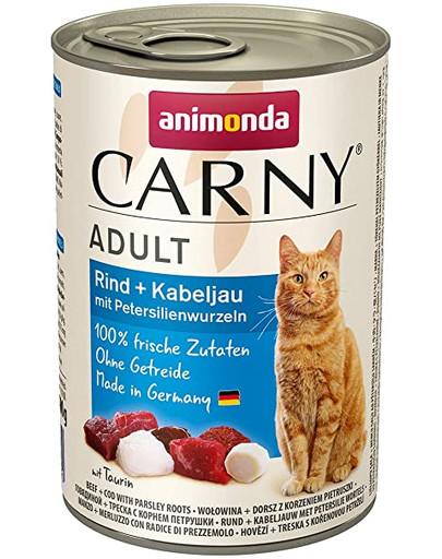 ANIMONDA Carny Adult Rind Kabeljau mit Petersilienwurzeln 400 g 41870